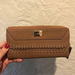 Calvin Klein Saffiano Leather Zip Around Wallet